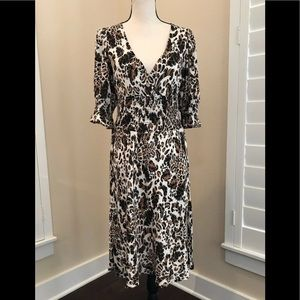 Diane Von Furstenberg Silk Animal Print Dress 8
